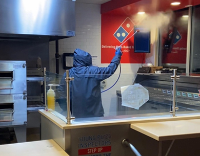 Liberty Services Decon sanitizes 16 Domino's in Western Cleveland